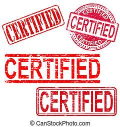 timbri gomma, certificato