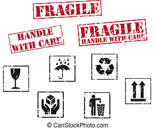 timbri gomma, fragile