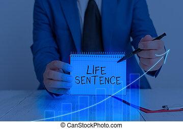 time., punizione, molto, lungo, scrittura, testo, parola, vita, essendo, sentence., mettere, concetto, affari, prigione