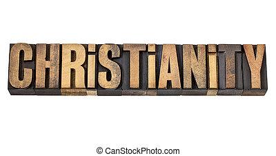 tipo, legno, parola, cristianesimo