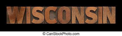 tipo, legno, vecchio, wisconsin