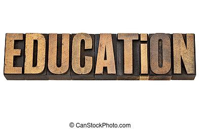tipo, letterpress, educazione, vendemmia