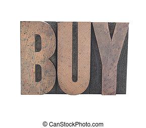 tipo, vecchio, legno, comprare