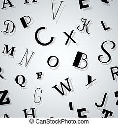 tipografia, fondo, seamless