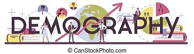 tipografico, studiare, header., scienziato, crescita, demography, popolazione