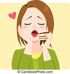 tiramisu, torta, donna, amore