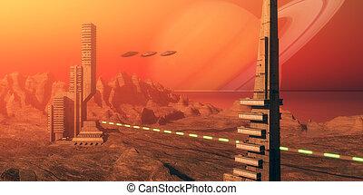titano, habitat, luna