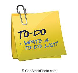 to-do, concetto, elenco, posto-esso