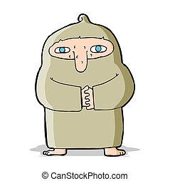 toga, cartone animato, monaco