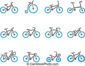 tono, bicycles, duetto, -, icone