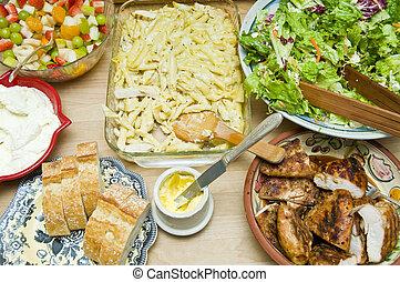 tons, cibo, buffet