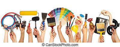 tools., set, bricolage