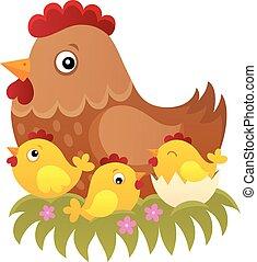 topic, 1, pollo, immagine