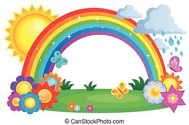 topic, arcobaleno, immagine, 2