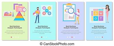 topic, illustrazioni, persone, studiare, set, analisi, tecnica, meglio, affari