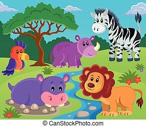 topic, immagine, 2, animali