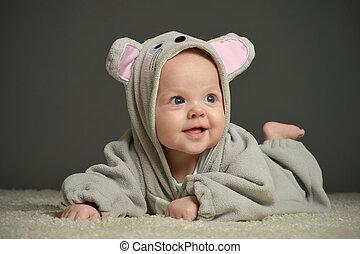 topo, bambino, costume