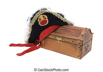 torace, tesoro, cappello, pirata