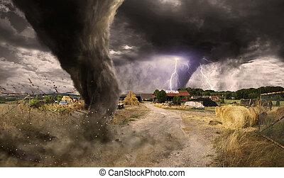 tornado, disastro, grande