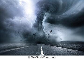 tornado, distruttivo, potente