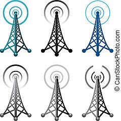 torre, simboli, radio