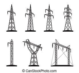 torre trasmissione, elettrico, tipi