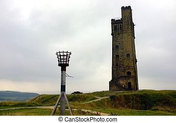 torre, victoria, collina castello