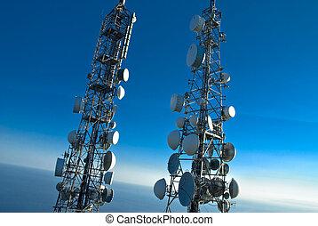 torreggiare, telecomunicazioni