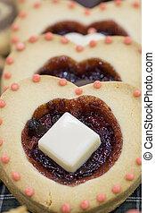 torta, amore, modellato