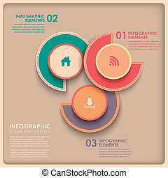 torta, astratto, 3d, grafico, infographics