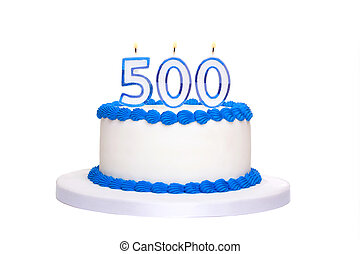 torta, compleanno, 500th