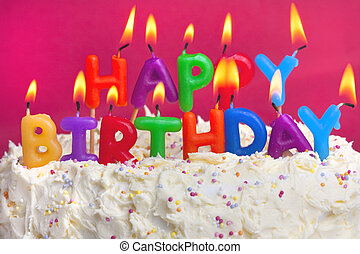 torta, compleanno, felice
