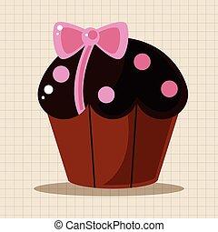 torta decorando, elementi, tema