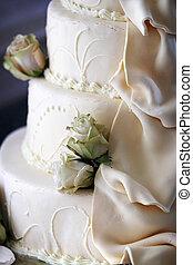 torta, dettaglio, matrimonio