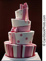 torta, divertente, decorato, delizioso, matrimonio