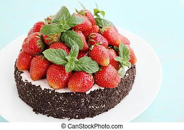 torta, fragola