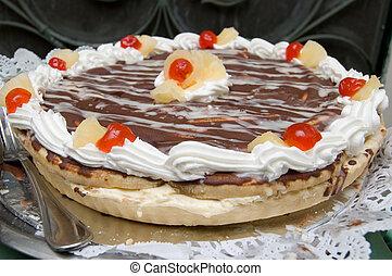 torta, immagine, saporito
