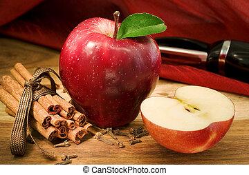 torta, mela, ingredienti