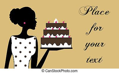 torta, ragazza