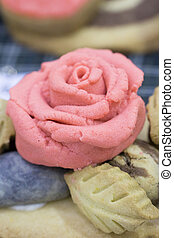 torta, rosa, modellato