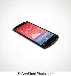 touchscreen, isolato, smartphone