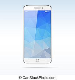 touchscreen, moderno, smartphone