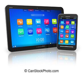 touchscreen, pc tavoletta, smartphone
