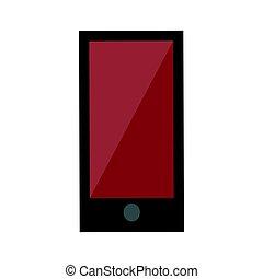 touchscreen, smartphone, portatile, comunicazione mobile, aggeggio, isolato, illustrazione, telefono, vettore, congegno, digitale, tocco, tecnologia, elettronico, mostra
