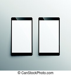 touchscreen, smartphone, sagoma, mockup