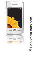 touchscreen, smartphone, vettore