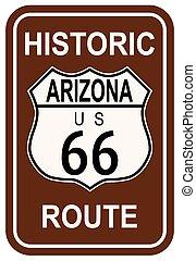 tracciato, storico, 66, arizona
