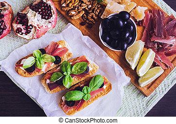 tradizionale, antipasto, italiano