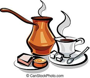 tradizionale, caffè turco