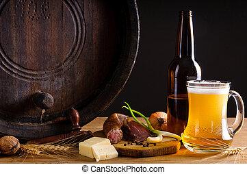 tradizionale, cena, birra